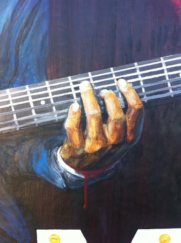 blues guitar hand robert johnson blood