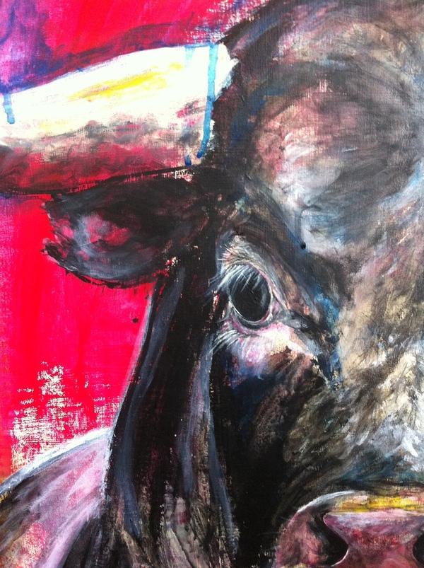 bull eye acrylic