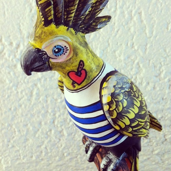 custom paint french cockatoo posca
