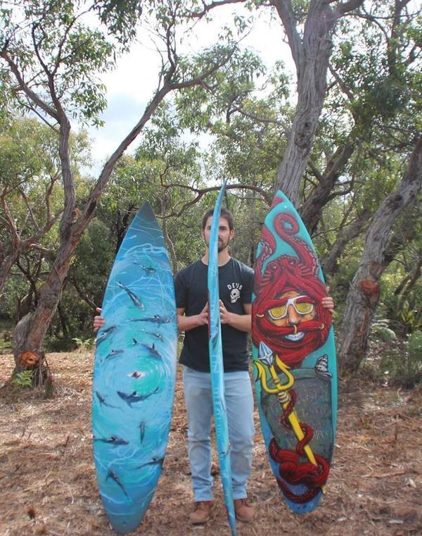 custom surfboards exile artist