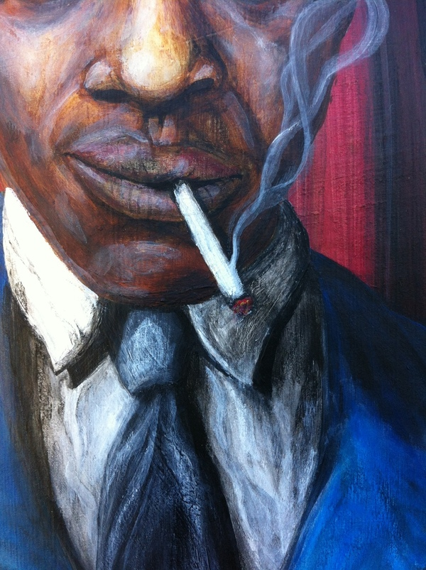 robert johnson cigaret smoke acrylic