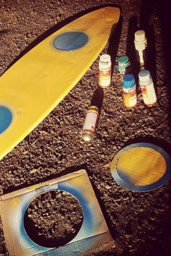 surfboard stencil spray paint