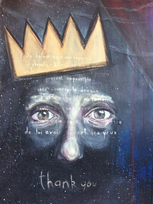 surreal portrait crown knight