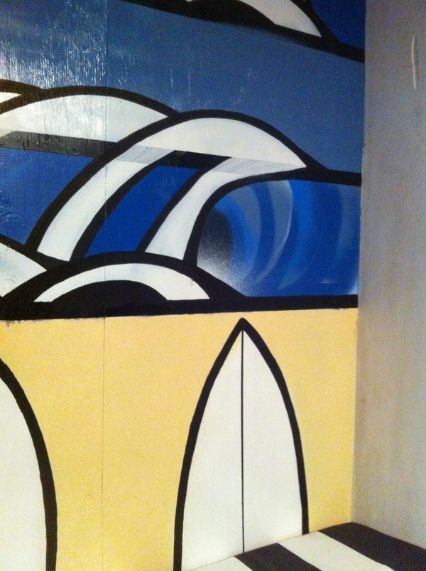 wave surf surfboards painting