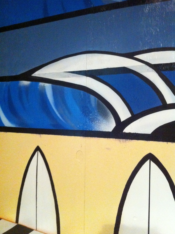 waves surf surfboards painting